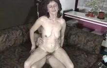 Old lady with bushy pussy slammed