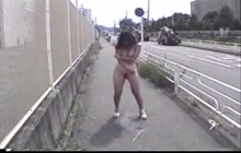 Japanese chick pissing in public