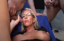 MILF with glasses wants cum