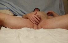 Tiny Dick Cums with Vibrator!