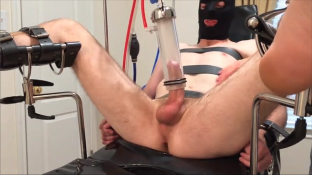 Milking a cock