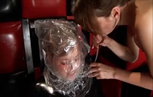 Lesbian punishment in latex