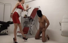 Hard balls busting for naughty slave