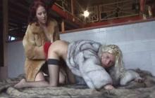 Lesbians in furry coats