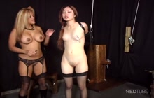 Petite Asian chick loves being bound