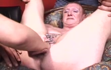 Hard fisting for the nasty mature slut